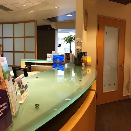Reception area at Confident Smiles Family Dentistry